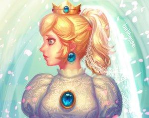 Rating: Safe Score: 4 Tags: bellhenge blonde_hair blue_eyes close crown nintendo princess_peach signed super_mario wedding_attire User: mattiasc02