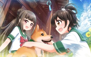 Rating: Safe Score: 21 Tags: 2girls animal battle_girl_high_school dog fujimiya_sakura minami_hinata school_uniform tamanegi_(12030028) User: mattiasc02