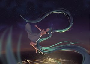Rating: Safe Score: 6 Tags: blue_hair hatsune_miku long_hair twintails vocaloid User: humanpinka