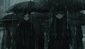 Rating: Safe Score: 46 Tags: aliasing blush cropped dark gloves long_hair monochrome naruwe original rain short_hair umbrella water User: otaku_emmy