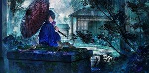Rating: Safe Score: 62 Tags: all_male animal black_hair building cat flowers japanese_clothes kimono leaves male mura_karuki original rain short_hair tree umbrella waifu2x water User: BattlequeenYume