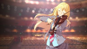 Rating: Safe Score: 80 Tags: blonde_hair ello-chan instrument miyazono_kawori photoshop seifuku shigatsu_wa_kimi_no_uso skirt tie violin User: mattiasc02