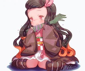 Rating: Safe Score: 23 Tags: black_hair chibi cropped food japanese_clothes kamado_nezuko kimetsu_no_yaiba kimono kneehighs lange loli long_hair pink_eyes signed white User: otaku_emmy