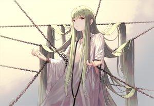 Rating: Safe Score: 52 Tags: chain enkidu fate/grand_order fate_(series) green_hair ita_(itta) jpeg_artifacts long_hair red_eyes User: BattlequeenYume