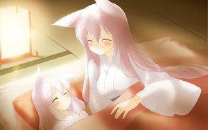 Rating: Safe Score: 88 Tags: 2girls animal_ears bed blush favorite foxgirl game_cg haku_(irotoridori_no_sekai) irotoridori_no_sekai japanese_clothes loli long_hair pink_hair ren_(irotoridori_no_sekai) shida_kazuhiro sleeping User: Wiresetc