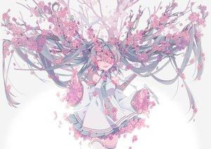 Rating: Safe Score: 66 Tags: blue_hair cherry_blossoms dress flowers hatsune_miku long_hair petals pink_eyes sourxuan thighhighs tie tree twintails vocaloid User: RyuZU