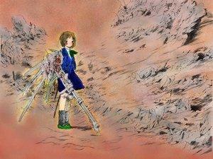 Rating: Safe Score: 3 Tags: chise gun saikano saishuu_heiki_kanojo takahashi_shin weapon wings User: Oyashiro-sama
