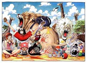 Rating: Safe Score: 18 Tags: animal clouds drink frog green_hair group hat jpeg_artifacts lion male monkey_d_luffy nami nico_robin oda_eiichirou one_piece orange_hair roronoa_zoro sanji short_hair tony_tony_chopper tree usopp User: Oyashiro-sama