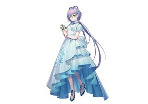 Rating: Safe Score: 52 Tags: chinese_clothes chinese_dress dress flowers green_eyes long_hair luo_tianyi purple_hair tidsean twintails vocaloid vocaloid_china white wristwear User: otaku_emmy