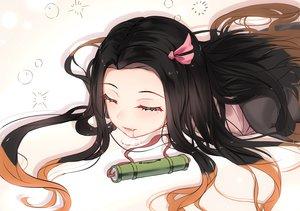 Rating: Safe Score: 41 Tags: 5555_96 black_hair fang gradient japanese_clothes kamado_nezuko kimetsu_no_yaiba long_hair User: RyuZU