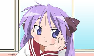 Rating: Safe Score: 55 Tags: blue_eyes close hiiragi_kagami long_hair lucky_star purple_hair school_uniform signed vector User: BoobMaster