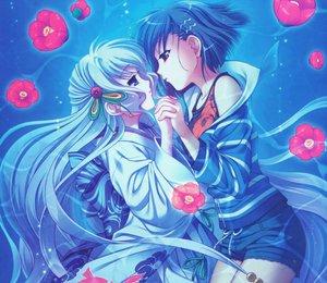 Rating: Safe Score: 63 Tags: 2girls aoi_shiro japanese_clothes kimono nami_(aoi_shiro) osanai_shouko shoujo_ai underwater water yasaka_minato User: nanikore