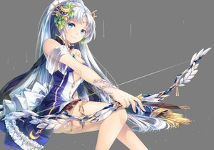 Rating: Safe Score: 118 Tags: aqua_eyes bow_(weapon) breasts diana_(sid_story) dress long_hair rain sid_story sliverbin transparent water weapon white_hair User: RyuZU