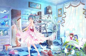 Rating: Safe Score: 109 Tags: aliasing card_captor_sakura doll hatsune_miku kinomoto_sakura mirror reflection tagme_(artist) vocaloid yuki_miku User: RyuZU
