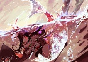 Rating: Safe Score: 156 Tags: bandage barefoot brown_hair bubbles japanese_clothes joseph_lee katana long_hair original pixiv_fantasia pointed_ears red_eyes sarashi sword underwater underwear water weapon User: otaku_emmy