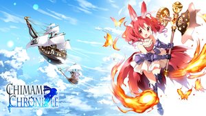 Rating: Safe Score: 69 Tags: airship animal animal_ears anko_(gochiusa) boots butterfly clouds elbow_gloves fang fire gloves gochuumon_wa_usagi_desu_ka? logo loli natsu_megumi rabbit red_eyes red_hair short_hair skirt sky tagme_(artist) tail weapon wild_geese User: RyuZU