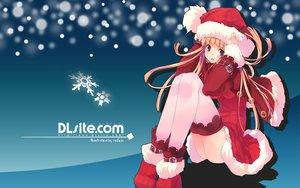 Rating: Safe Score: 44 Tags: christmas dille_blood dlsite.com original refeia santa_costume thighhighs User: korokun
