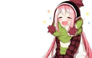 Rating: Safe Score: 39 Tags: blush cropped kagamihara_nadeshiko long_hair pink_hair sakuragi_ren scarf white yuru_camp User: RyuZU