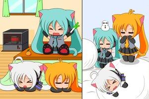 Rating: Safe Score: 48 Tags: akita_neru animal_ears catgirl chibi hatsune_miku suzunonaruki tagme tail vocaloid yowane_haku User: gameaddict1