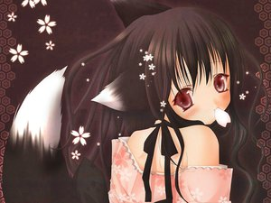 Rating: Safe Score: 2 Tags: animal_ears black_hair hinayuki_usa red_eyes tail User: Oyashiro-sama