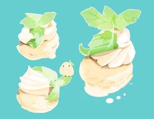 Rating: Safe Score: 12 Tags: animal bird chai_(artist) cyan food ice_cream leaves nobody original signed User: otaku_emmy