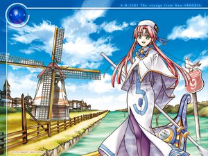 Rating: Safe Score: 12 Tags: amano_kozue aria mizunashi_akari windmill User: Oyashiro-sama