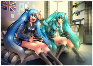 Rating: Safe Score: 142 Tags: all_points_bulletin emperpep game_console hatsune_miku vocaloid weapon User: xboxlive23