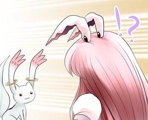 Rating: Safe Score: 30 Tags: animal_ears bunny_ears bunnygirl cat_smile crossover kyuubee long_hair mahou_shoujo_madoka_magica pink_hair red_eyes reisen_udongein_inaba touhou yume_shokunin User: PAIIS