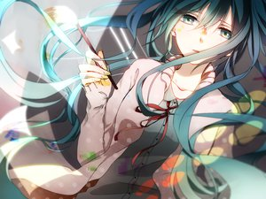 Rating: Safe Score: 169 Tags: aqua_eyes aqua_hair hatsune_miku long_hair vocaloid yuma_(yamayurichima) User: opai