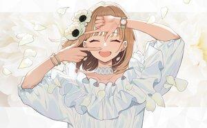 Rating: Safe Score: 70 Tags: brown_hair choker close flowers original petals short_hair wristwear yuu_(higashi_no_penguin) User: otaku_emmy
