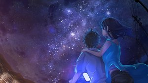 Rating: Safe Score: 24 Tags: bicycle black_hair male night original phone sakatsuki_yakumo short_hair sky stars User: RyuZU