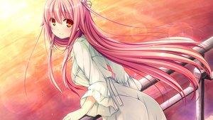 Rating: Safe Score: 86 Tags: game_cg giga harvest_overray long_hair nironiro orange_eyes pink_hair tamaki_yuuka User: C4R10Z123GT