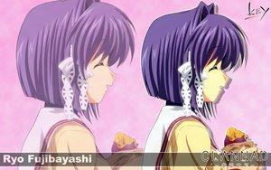 Rating: Safe Score: 6 Tags: clannad fujibayashi_ryou key logo purple_hair school_uniform short_hair zoom_layer User: Oyashiro-sama