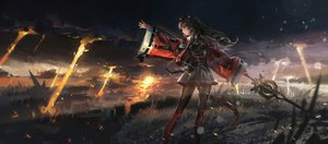 Rating: Safe Score: 126 Tags: animal_ears arknights catgirl clouds grass kvpk5428 pantyhose skyfire_(arknights) spear tail weapon User: Dreista