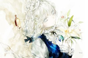 Rating: Safe Score: 63 Tags: flowers izayoi_sakuya maid moemoe3345 necklace touhou white_hair User: opai