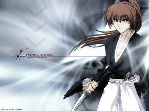 Rating: Safe Score: 8 Tags: all_male himura_kenshin japanese_clothes katana male rurouni_kenshin sword weapon User: Oyashiro-sama