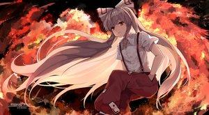 Rating: Safe Score: 35 Tags: fire fujiwara_no_mokou snozaki touhou watermark User: FormX