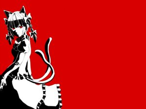 Rating: Safe Score: 41 Tags: animal_ears bow braids catgirl dress kaenbyou_rin long_hair michi_(hanako5200) multiple_tails polychromatic red red_eyes tail touhou User: noitis
