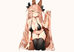 Rating: Safe Score: 96 Tags: animal_ears bikini blush breasts cleavage fate/extra fate/grand_order fate_(series) foxgirl long_hair pink_hair silver_(chenwen) sketch swimsuit tail tamamo_no_mae_(fate) thighhighs yellow_eyes User: otaku_emmy