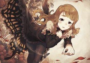 Rating: Safe Score: 132 Tags: brown_hair butterfly dress idolmaster idolmaster_million_live! long_hair miyao_miya narumi_arata pantyhose pink_eyes User: Flandre93