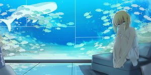 Rating: Safe Score: 120 Tags: animal artoria_pendragon_(all) blonde_hair fate_(series) fate/stay_night fish green_eyes magicians saber saber_lily signed water User: luckyluna