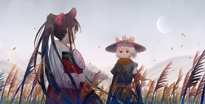 Rating: Safe Score: 67 Tags: 2girls animal animal_ears brown_hair chinese_clothes ji_dao_ji long_hair mouse mousegirl original ponytail red_eyes short_hair sword weapon User: Fepple