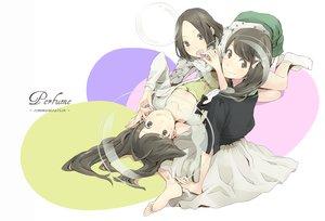 Rating: Safe Score: 39 Tags: a~chan blush bow brown_hair food kashiyuka nocchi perfume yoshito User: Wiresetc