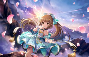 Rating: Safe Score: 40 Tags: annin_doufu bow brown_eyes brown_hair clouds dress garter idolmaster idolmaster_cinderella_girls idolmaster_cinderella_girls_starlight_stage long_hair petals ponytail sky wristwear yorita_yoshino User: luckyluna