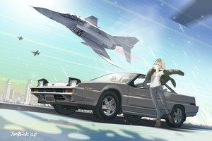 Rating: Safe Score: 12 Tags: brown_hair car combat_vehicle jetbrick original short_hair signed User: RyuZU