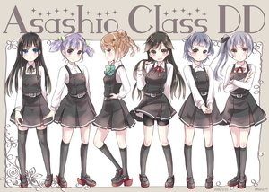 Rating: Safe Score: 41 Tags: aikawa_ruru aliasing arare_(kancolle) arashio_(kancolle) asashio_(kancolle) bike_shorts black_hair blue_eyes blue_hair bow braids brown_eyes brown_hair gray_hair group kantai_collection kasumi_(kancolle) kneehighs long_hair michishio_(kancolle) ooshio_(kancolle) ponytail purple_hair seifuku short_hair shorts signed thighhighs twintails zettai_ryouiki User: Flandre93