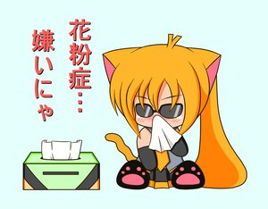 Rating: Safe Score: 28 Tags: akita_neru animal_ears blonde_hair catgirl chibi suzunonaruki tail vocaloid User: gameaddict1