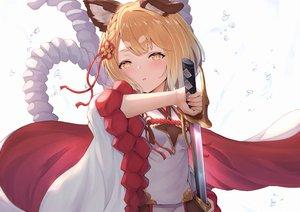 Rating: Safe Score: 71 Tags: aliasing animal_ears blonde_hair braids doggirl granblue_fantasy kimblee loli rope sword vajra_(granblue_fantasy) weapon yellow_eyes User: BattlequeenYume