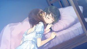 Rating: Safe Score: 191 Tags: 2girls bed black_hair brown_hair flowers_(game) game_cg innocent_grey kiss kousaka_mayuri shirahane_suou shoujo_ai sleeping sugina_miki User: C4R10Z123GT