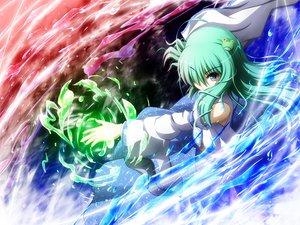Rating: Safe Score: 32 Tags: akashio dress green_eyes green_hair japanese_clothes kochiya_sanae long_hair miko touhou User: konstargirl